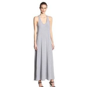 Splendid Gray Knit Racerback Maxi Dress M